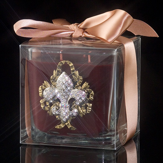 Majestic Jeweled Black Currant Candle
