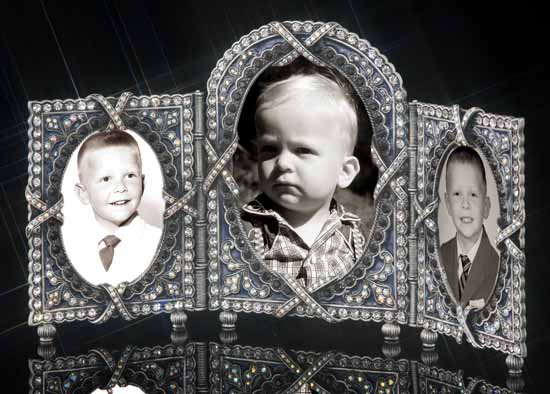 Royal Palace Jeweled Triple Picture Frame