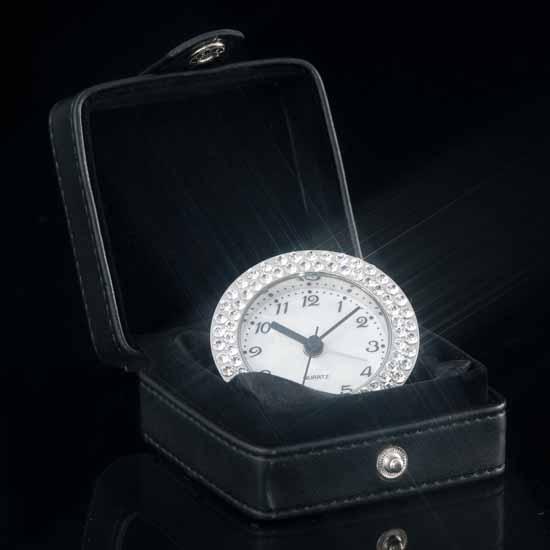 Villa Luna Jeweled Travel Alarm Clock