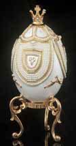 Pearl Carousel Musical Egg