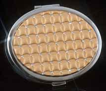 Gold-Tone Jeweled Mirror Compact