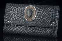 Monte Carlo Black Leather Wallet/Clutch