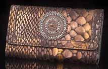San Tropez Bronze Leather Wallet/Clutch