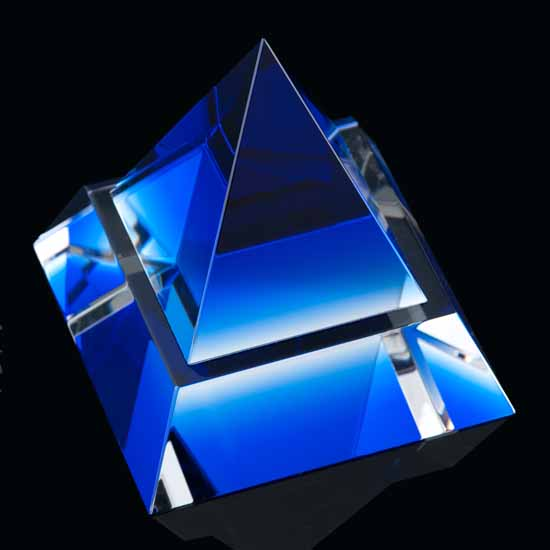 Crystal Blue Pyramid
