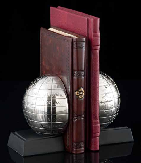 Retro World Bookends