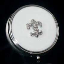 Jeweled Fleur-de-Lis Pill Box