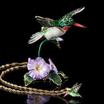Soaring Hummingbird Box and Necklace