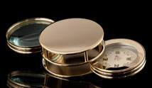 Gold Tone Compass and Magnifier