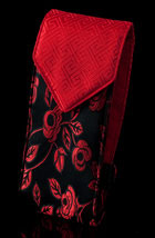 Black/Red Satin Double Eyeglass Case