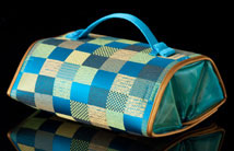 Teal Satin Treasure Bag