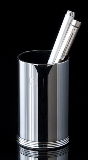 Chrome Pen Holder
