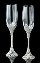 Celebration Jeweled Champagne Flutes
