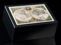 Old World Map Decorative Box