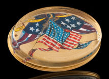 Scott Potter Gold Leaf Federal Oval Paperweight