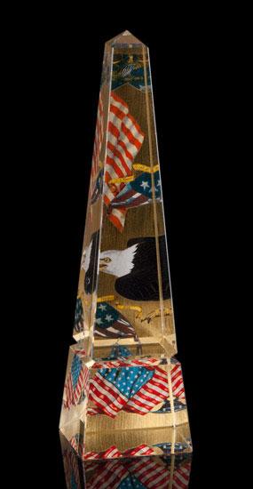 Gold Leaf Federal 10 Inch Obelisk