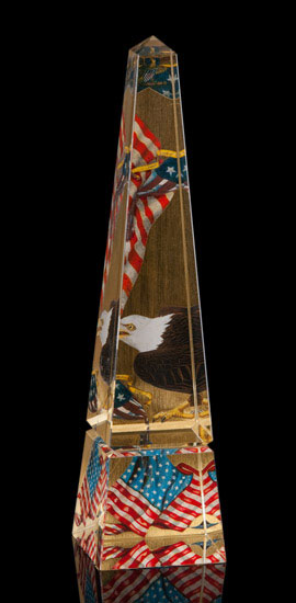 Gold Leaf Federal 12 Inch Obelisk