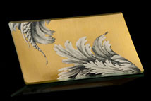 Gold Leaf Damask Tray