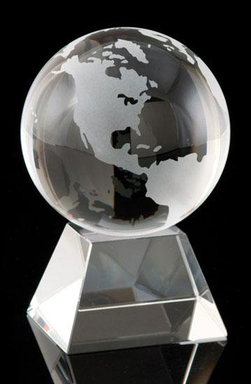 Global Peak Crystal Globe