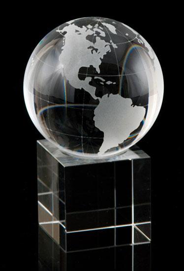 Crystal Cube Globe