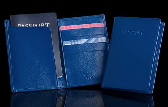 Mariner Blue Passport/Credit Card Holder