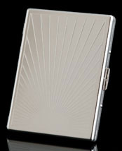 Silver Sunburst Oversize Card Case