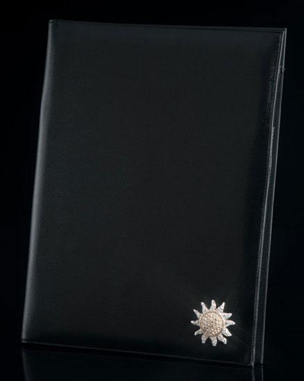 Black Lizard Portfolio with Jeweled Sun Medallion