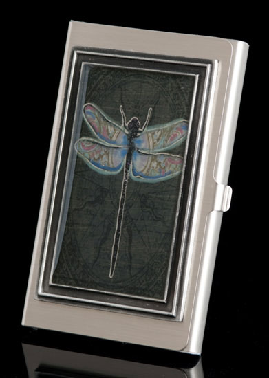 Night Dragonfly Business Card Holder