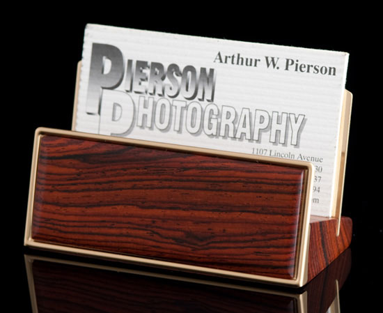 Cocobolo Desktop Card Holder