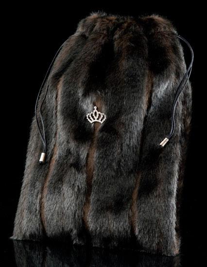 Faux Fur Shoe Bag