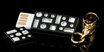 Starlet Jeweled USB Drive Key Chain - Open