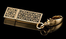 Golden Lace USB Drive Key Chain
