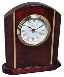 Classic Mahogany Arch Desk Clock