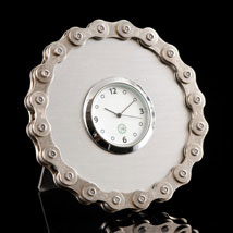 Silver Bike Chain Desk Clock