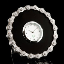 Black Bike Chain Desk Clock