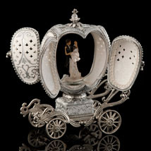 Silver Wedding March Musical Egg - Open