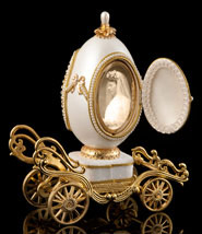 I Will Always Love You Golden Carriage Musical Egg - Frame