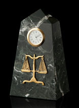 Legal Marble Obelisk Clock