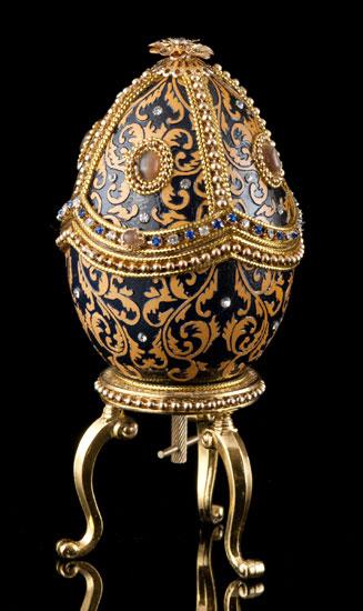 Brocade Elegance Musical Egg