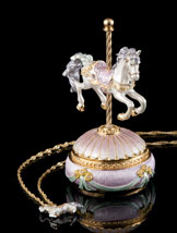 Jeweled Carousel Box and Necklace