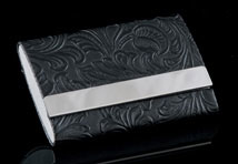 Black Valencia Double-Sided Card Case