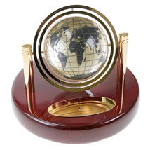 Gyro Globe Clock-Globe Side