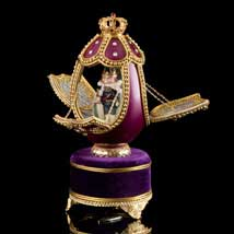 Regal Nutcracker Musical Egg - Open