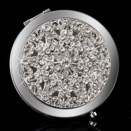 Crystal Snow Mirror Compact