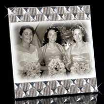 Harlowe Jeweled Picture Frame
