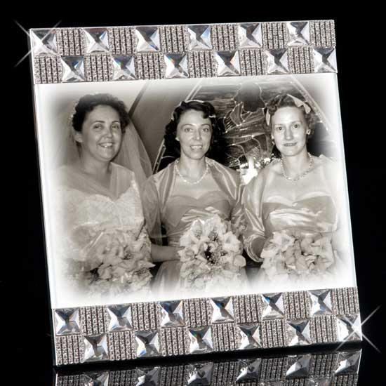 Harlowe Jeweled Picture Frame