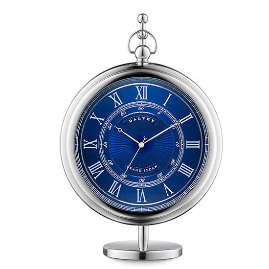 Dalvey Grand Sedan Clock - Blue