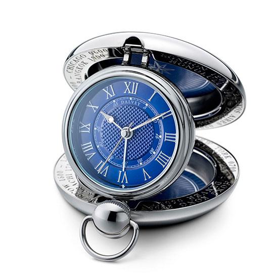 Dalvey Voyager Travel Alarm Clock - Blue