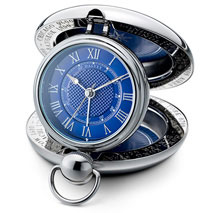 Dalvey Voyager Travel Alarm Clock - Blue