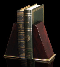 Mahogany Bookends