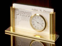 Card Holder with Clock